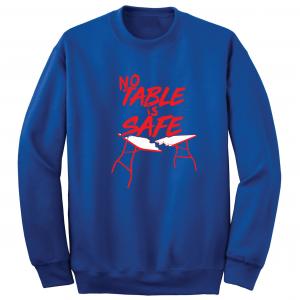 No Table Is Safe - Bills Mafia, Royal Blue, Crew Sweatshirt