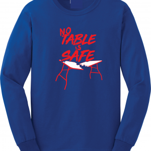 No Table Is Safe - Bills Mafia, Royal Blue, Long-Sleeved