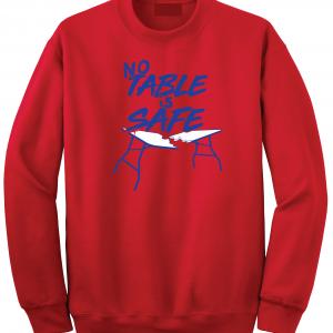 No Table Is Safe - Bills Mafia, Red, Crew Sweatshirt