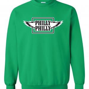 Philly Philly - Philadelphia Eagles, Green, Crew Sweatshirt