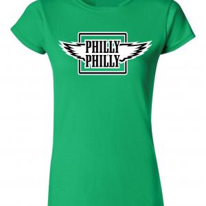 Philly Philly - Philadelphia Eagles, Green, Women's Cut T-Shirt
