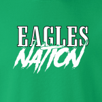 Eagles Nation - Philadelphia, Hoodie, Long-Sleeved, T-Shirt, Crew Sweatshirt, Women's Cut T-Shirt