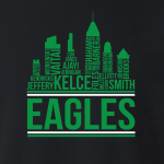 Eagles Skyline - Philadelphia Eagles, Hoodie, Long-Sleeved, T-Shirt, Crew Sweatshirt, Women's Cut T-Shirt