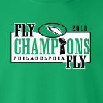 Fly Champions Fly - Philadelphia, Hoodie, Long-Sleeved, T-Shirt, Crew Sweatshirt, Women's Cut T-Shirt