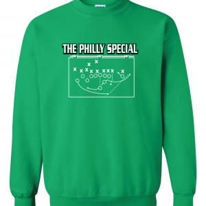 The Philly Special - Philadelphia Eagles, Green, Crew Sweatshirt