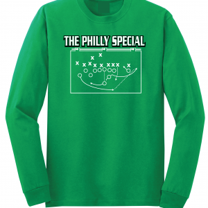 The Philly Special - Philadelphia Eagles, Green, Long-Sleeved