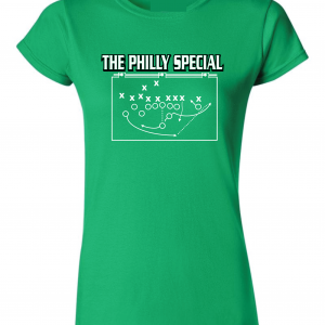 The Philly Special - Philadelphia Eagles, Green, Women's Cut T-Shirt