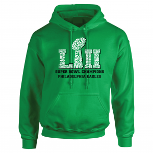Team Superbowl LII - Philadelphia Eagles, Black, Hoodie