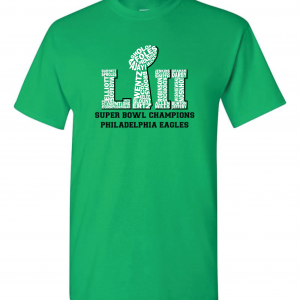 Team Superbowl LII - Philadelphia Eagles, Black, T-Shirt