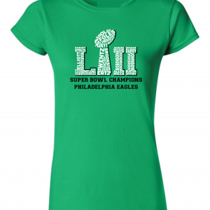Team Superbowl LII - Philadelphia Eagles, Green, Women's Cut T-Shirt