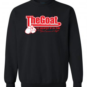 GOAT Muhammad Ali, Black, Crew Sweatshirt