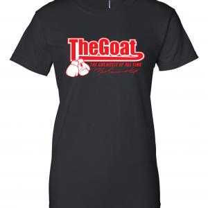 GOAT Muhammad Ali, Black, Women's Cut T-Shirt