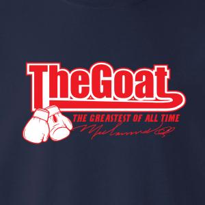 GOAT Muhammad Ali, Hoodie, Long-Sleeved, T-Shirt, Crew Sweatshirt, Women's Cut T-Shirt