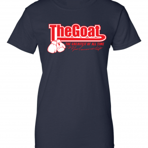 GOAT Muhammad Ali, Navy, Women's Cut T-Shirt