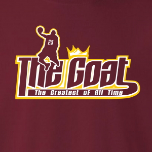 GOAT Lebron James, Hoodie, Long-Sleeved, T-Shirt, Crew Sweatshirt, Women's Cut T-Shirt
