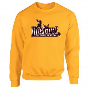 GOAT Lebron James, Gold, Crew Sweatshirt