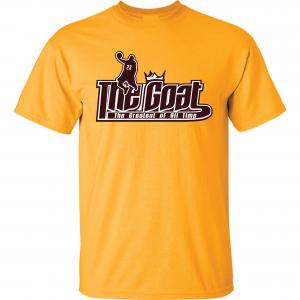 GOAT Lebron James, Gold, T-Shirt