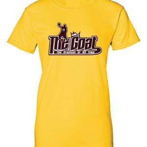 GOAT Lebron James, Gold, Women's Cut T-Shirt
