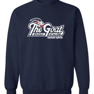 GOAT Shaun White, Navy, Crew Sweatshirt