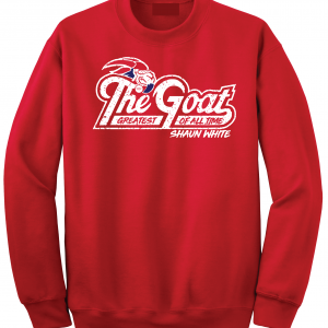 GOAT Shaun White, Red, Crew Sweatshirt