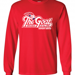 GOAT Shaun White, Red, Long-Sleeved