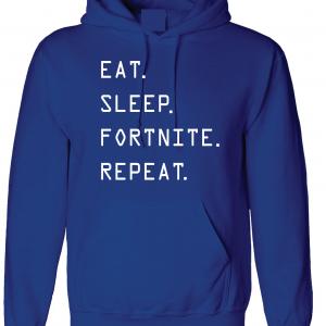 Eat Sleep Fortnite Repeat, Royal Blue, Hoodie