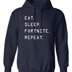 Eat Sleep Fortnite Repeat, Navy, Hoodie