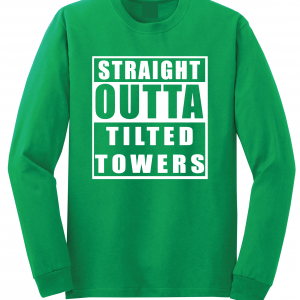 Straight Outta Tilted Towers, Green, Long-Sleeved