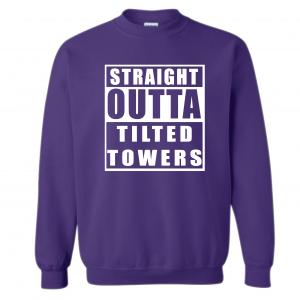 Straight Outta Tilted Towers, Purple, Crew Sweatshirt