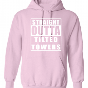 Straight Outta Tilted Towers, Pink-White, Hoodie