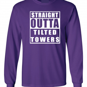 Straight Outta Tilted Towers, Purple, Long-Sleeved