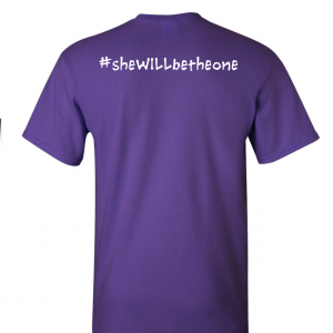 Kinley Strong T-Shirt, Purple, Back