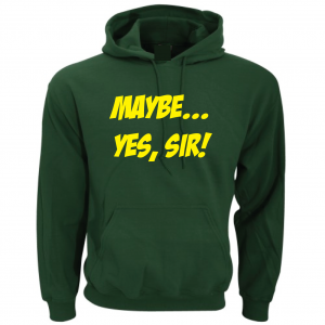 Maybe Yes Sir - Masters - Golf, Green, Hoodie
