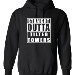 Straight Outta Tilted Towers, Black, Hoodie
