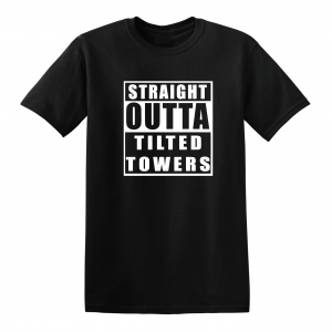 Straight Outta Tilted Towers, Black, T-Shirt
