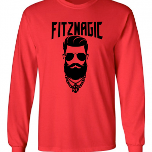 Fitzmagic Face, Red, Long-Sleeved
