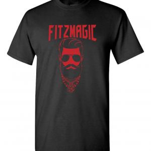 Fitzmagic Face, Black, T-Shirt