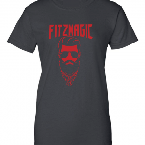 Fitzmagic Face, Black, Women's Cut T-Shirt