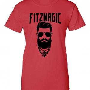 Fitzmagic Face, Red, Women's Cut T-Shirt