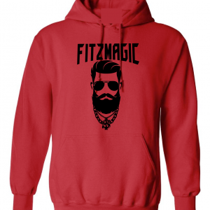 Fitzmagic Face, Red, Hoodie
