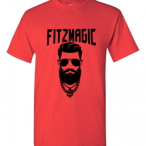 Fitzmagic Face, Red, T-Shirt