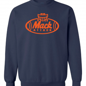Mack Attack Football, Navy, Crew Sweatshirt