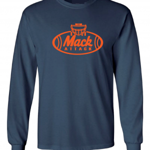 Mack Attack Football, Navy, Long-Sleeved
