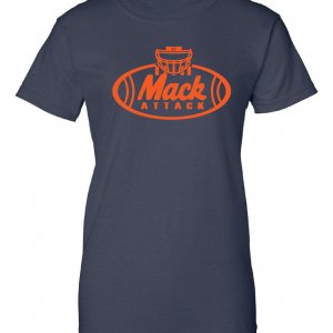 Mack Attack Football, Navy, Women's Cut T-Shirt