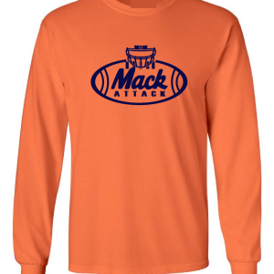 Mack Attack Football, Orange, Long-Sleeved
