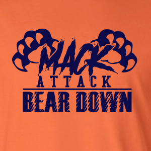 Mack Attack Bear Down, Hoodie, Long-Sleeved, T-Shirt, Crew Sweatshirt, Women's Cut T-Shirt