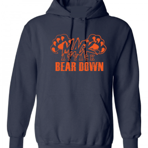 Mack Attack Bear Down, Navy, Hoodie
