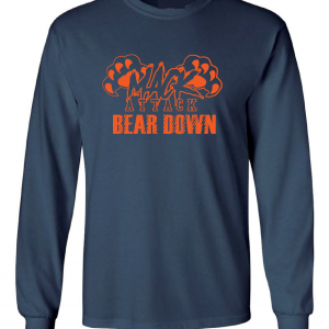 Mack Attack Bear Down, Navy, Long-Sleeved