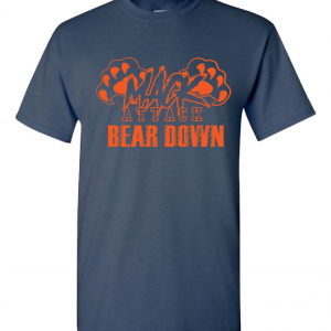 Mack Attack Bear Down, Navy, T-Shirt
