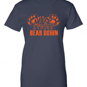 Mack Attack Bear Down, Navy, Women's Cut T-Shirt